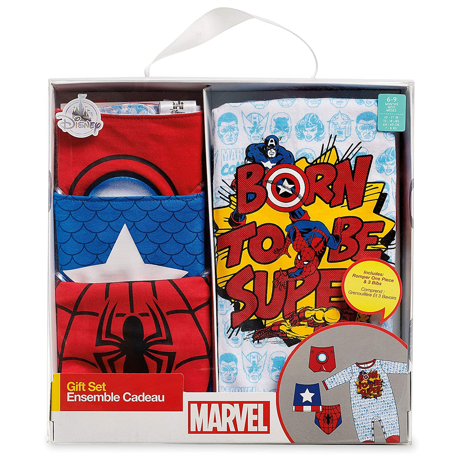 Amazon.com: Marvel Marvel - Set de regalo para bebé, 3-6 ...