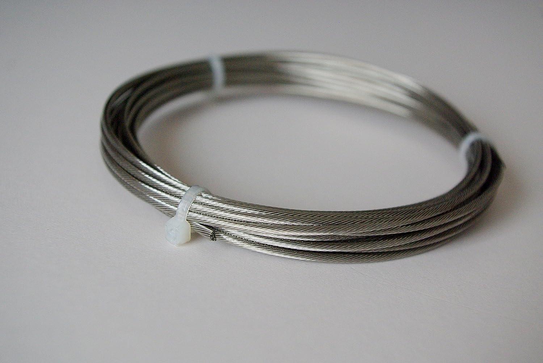 Amazon.de: Draht Gardinenstange - Glänzend Silber