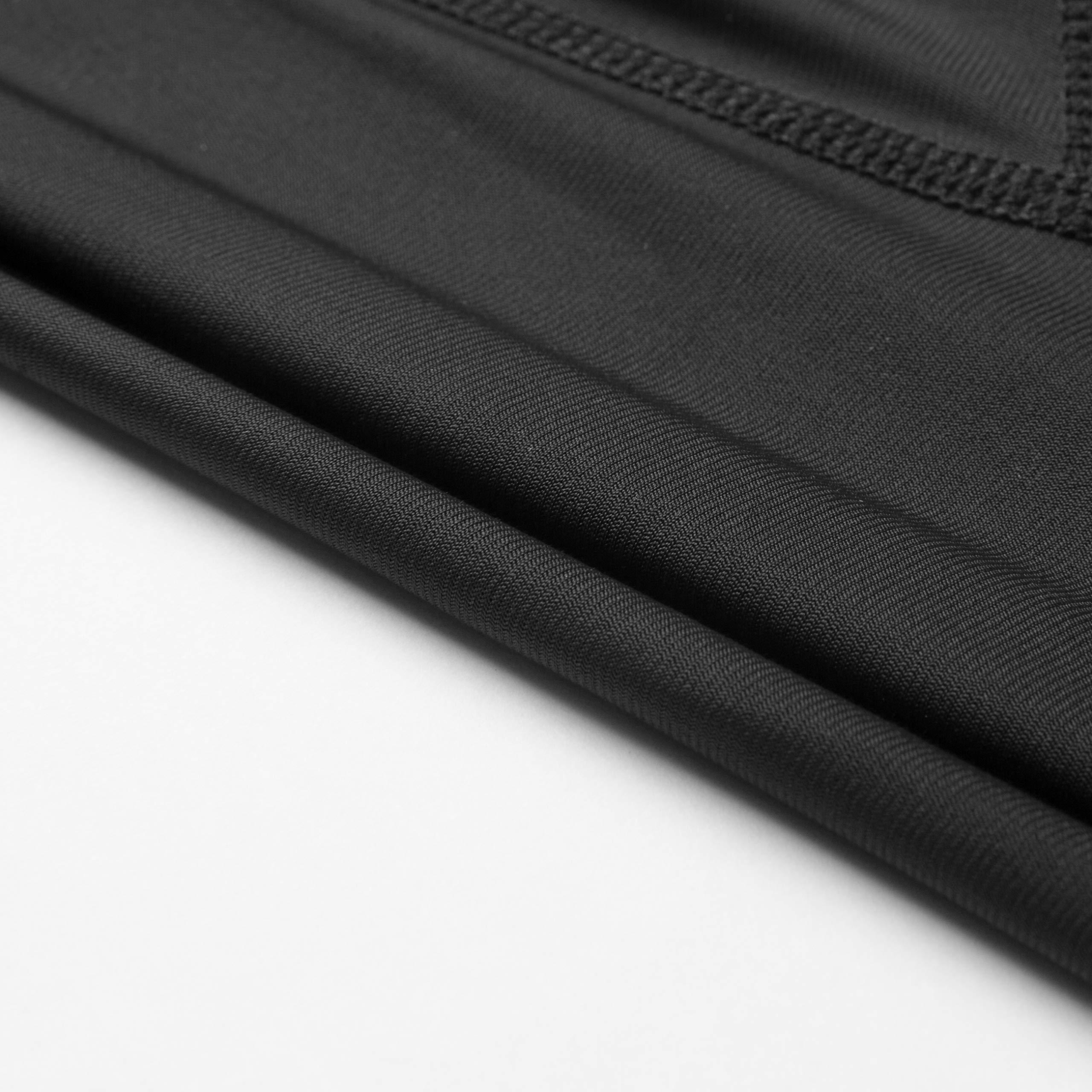 Przewalski Men's Cycling Bib Shorts, 4D Padded Compression Bike Tights Breathable Bicycle Pants UPF 50+, Classic Series, Black/XL by Przewalski (Image #9)