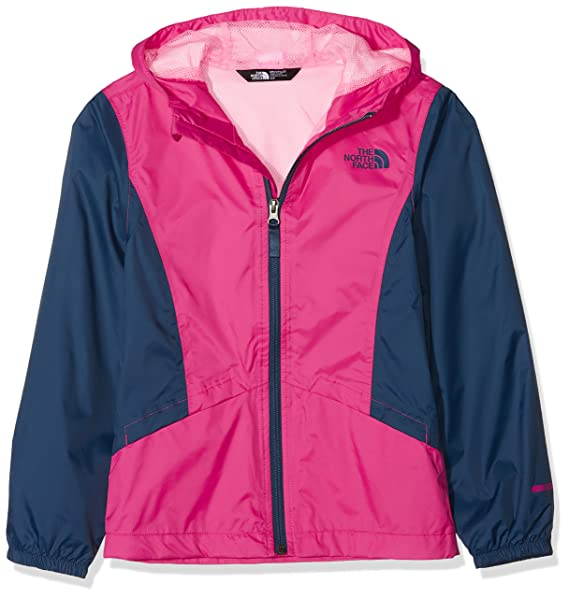 09a5412943aa The North Face Girls Zipline Rain Jacket Petticoat Pink and Blue Wing Teal  - L