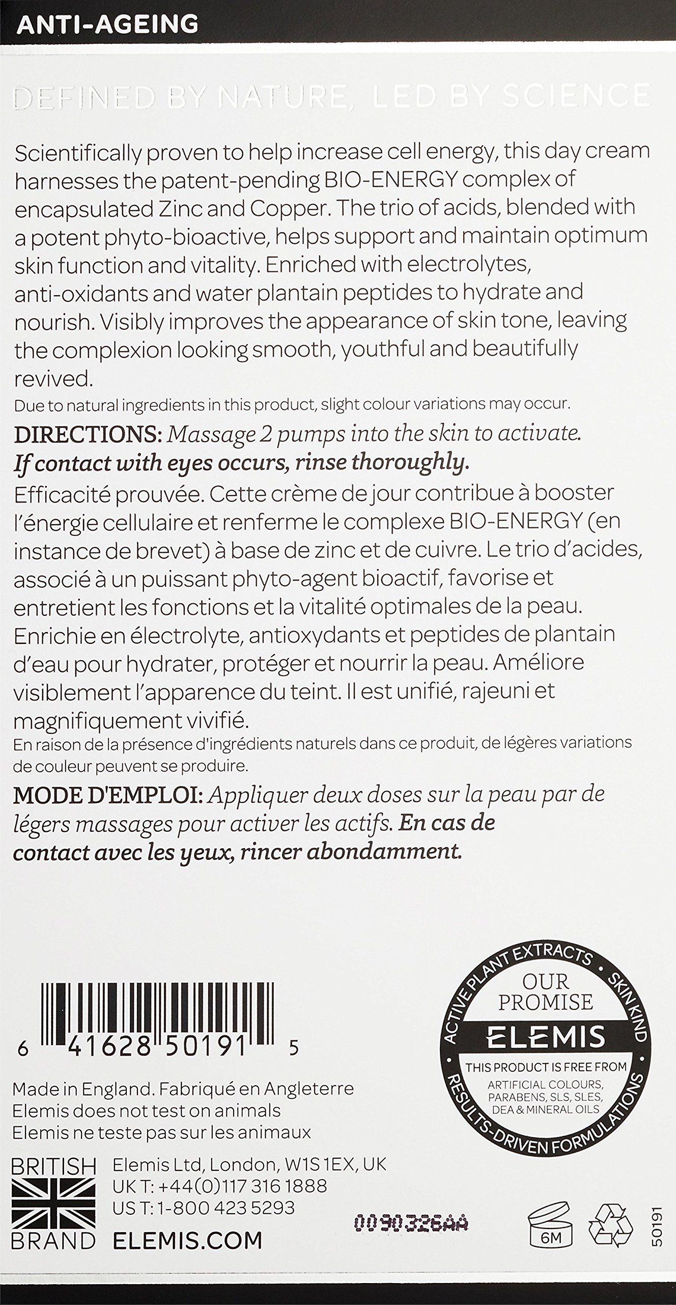 ELEMIS BIOTEC Skin Energizing Day Cream, Skin Activating Moisturizer for Normal Skin, 1 fl. oz. by ELEMIS (Image #2)