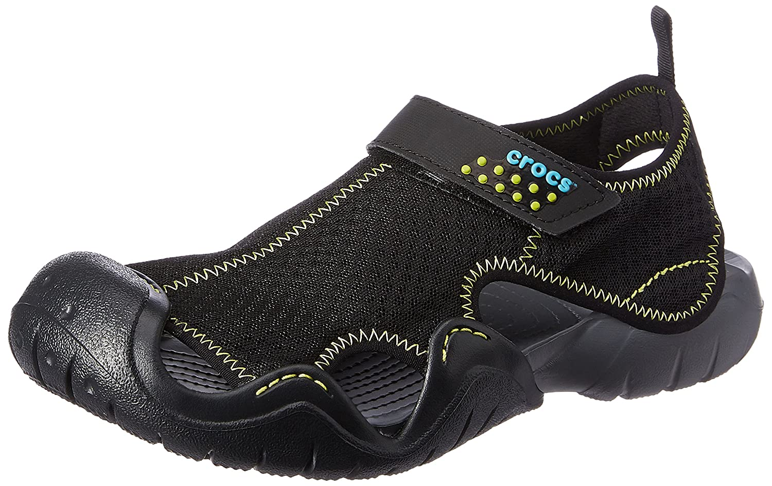 3f1a33aab7c6 crocs Men s Swiftwater Black and Charcoal Sandals and Floaters  Buy Online  at Low Prices in India - Amazon.in