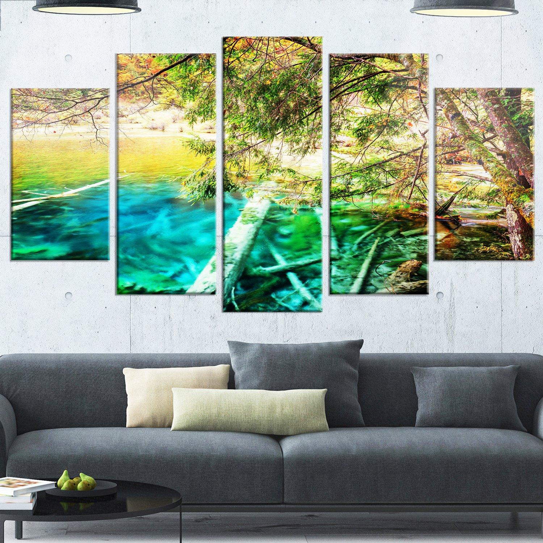 Designart MT13215-628 Metal Wall Art 28 H/x/70 W/x/1 D 6P Green