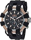 Invicta Men's 'Bolt' Quartz Stainless Steel and Silicone Casual Watch, Color:Black (Model: 23859)
