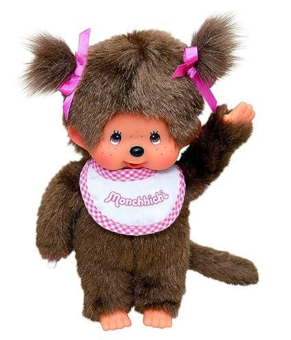 Monchhichi 25555 - Peluche (20 cm), diseño de niña, color rosa