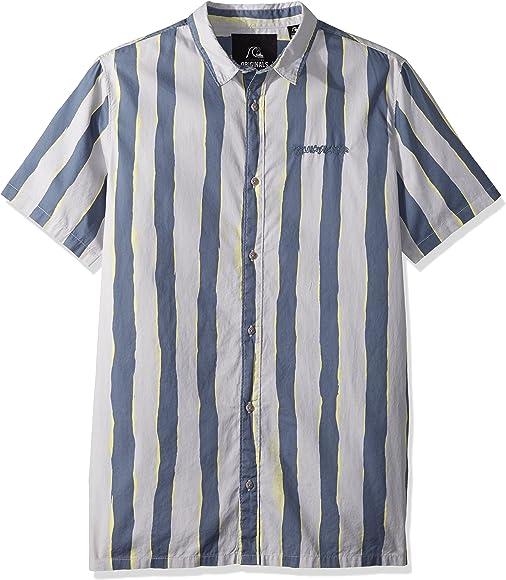 Quiksilver Mad Wax - Camisa estampada para hombre - - Small: Amazon.es: Ropa y accesorios
