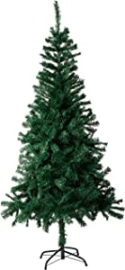 Amazing Seasons 6 Ft. Christmas Tree | Green Branches with Sturdy Metal Base | Unlit Artifical Pine, AU-IT6-600-GRN