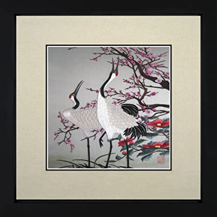 Amazon Com King Silk Art 100 Handmade Embroidery Framed Red