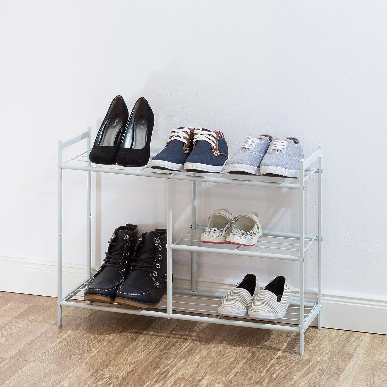 Colore Bianco Misure HBT: ca 50,5 x 70 x 26 cm Ideale per Stivali e Altre Scarpe Relaxdays Mobile portascarpe//scarpiera per Ingresso