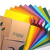 Set Regalo di Carta per Origami | 100 Fogli, 15cm Quadrati | Collezione di Colori Complementari