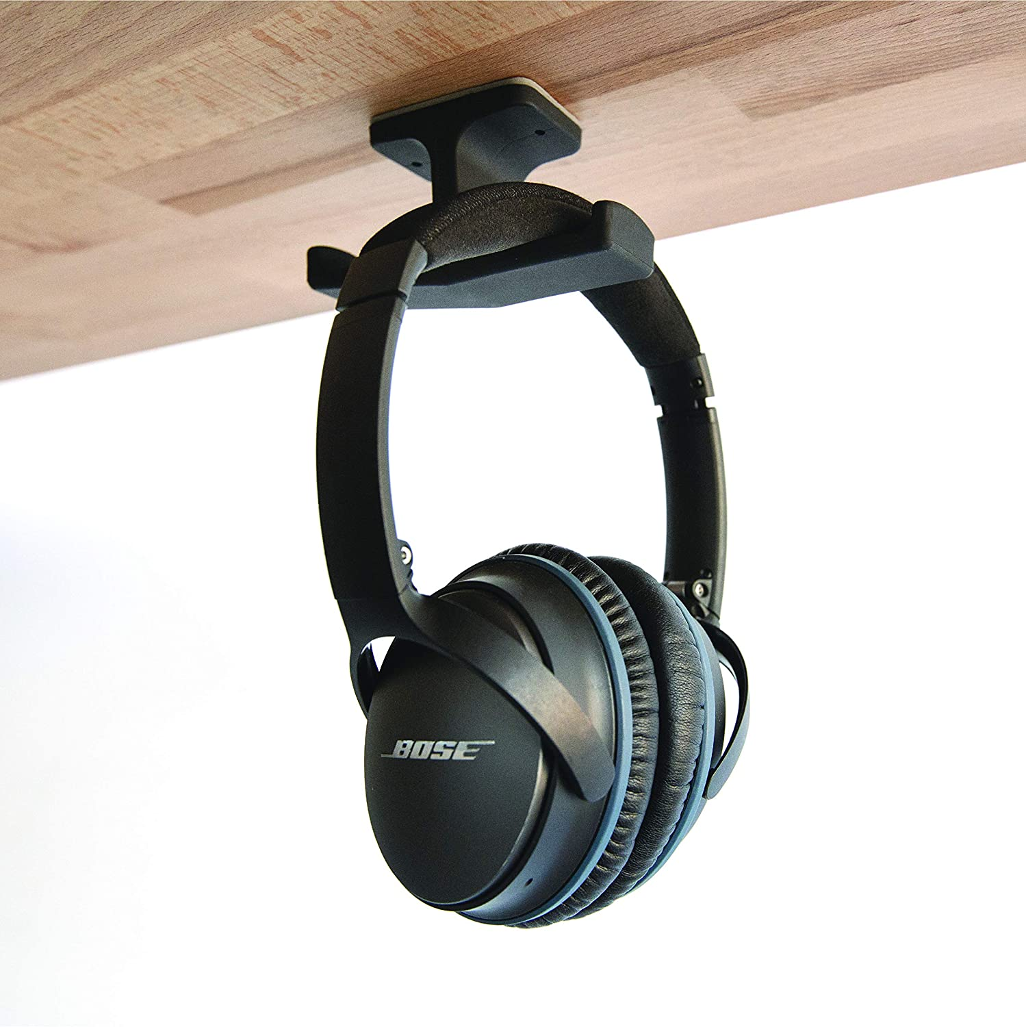 Universal Dual Fit The Original Under-Desk Headphone Stand Mount Patented Elevation Lab The Anchor Over Ear Headphones Hook Gaming Headset