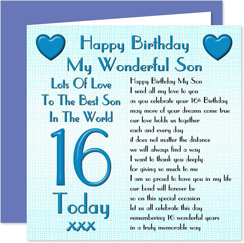 Happy Birthday Son 16 Today 16th Bike Design Happy Birthday Card