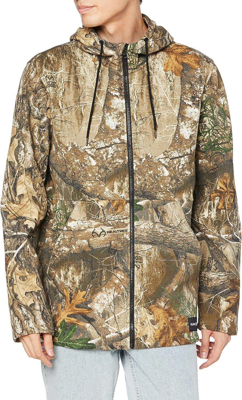 Hurley Men's Realtree Camo Printed Full-Zip Fleece Hooded Sweatshirt: Clothing