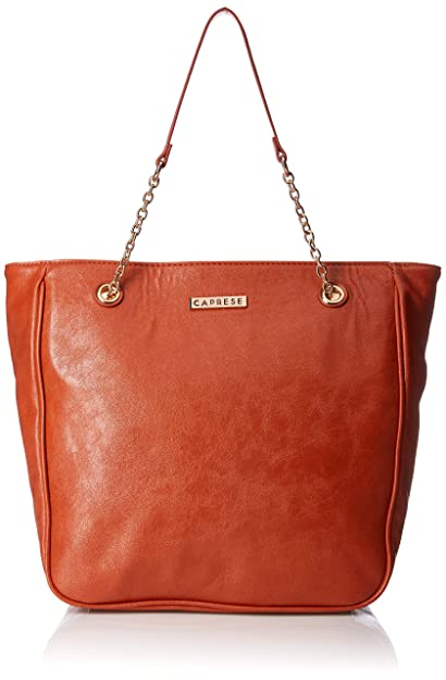 b997bc08e0 Caprese Monica Women s Tote Bag (Rust)  Amazon.in  Shoes   Handbags