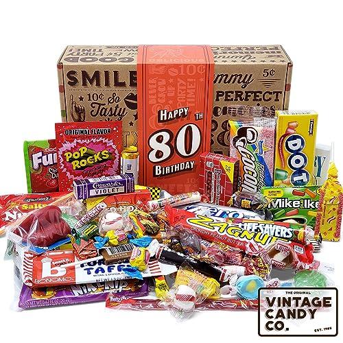 80TH BIRTHDAY RETRO CANDY GIFT BOX