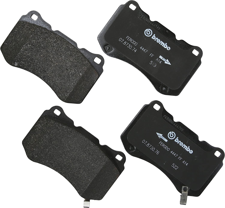 Brembo Front and Rear Premium NAO Ceramic Brake Pad Set Kit for Acura TL /'04-/'08
