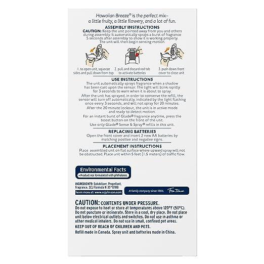 Amazon Glade Sense Spray Automatic Air Freshener Starter Kit