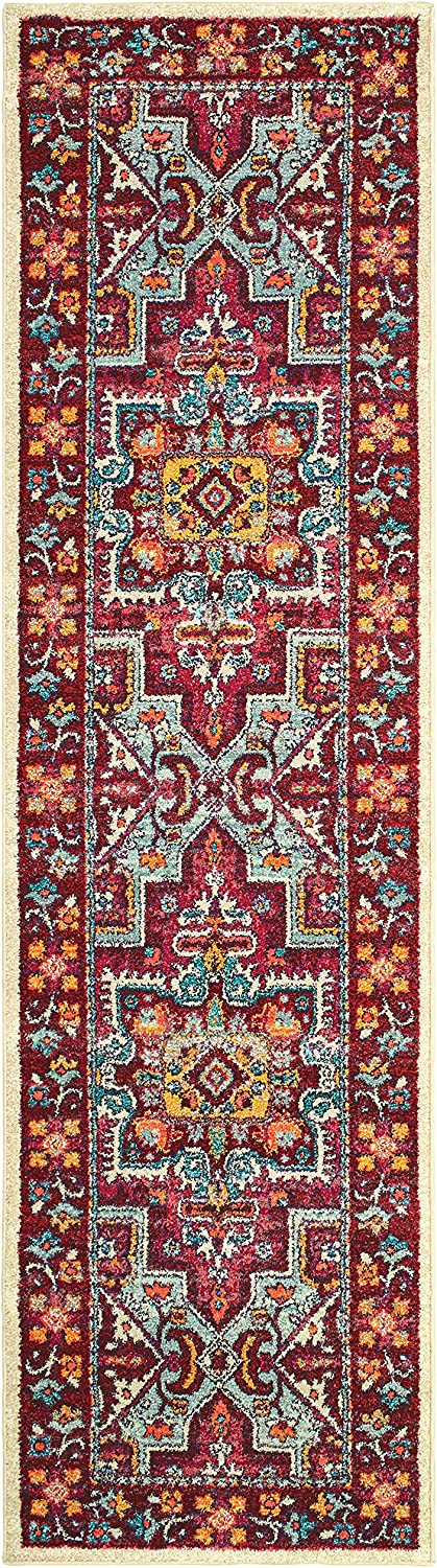 Christopher Knight Home Deliah Tribal Indoor Runner 2ft 7in X 10ft Red Pink