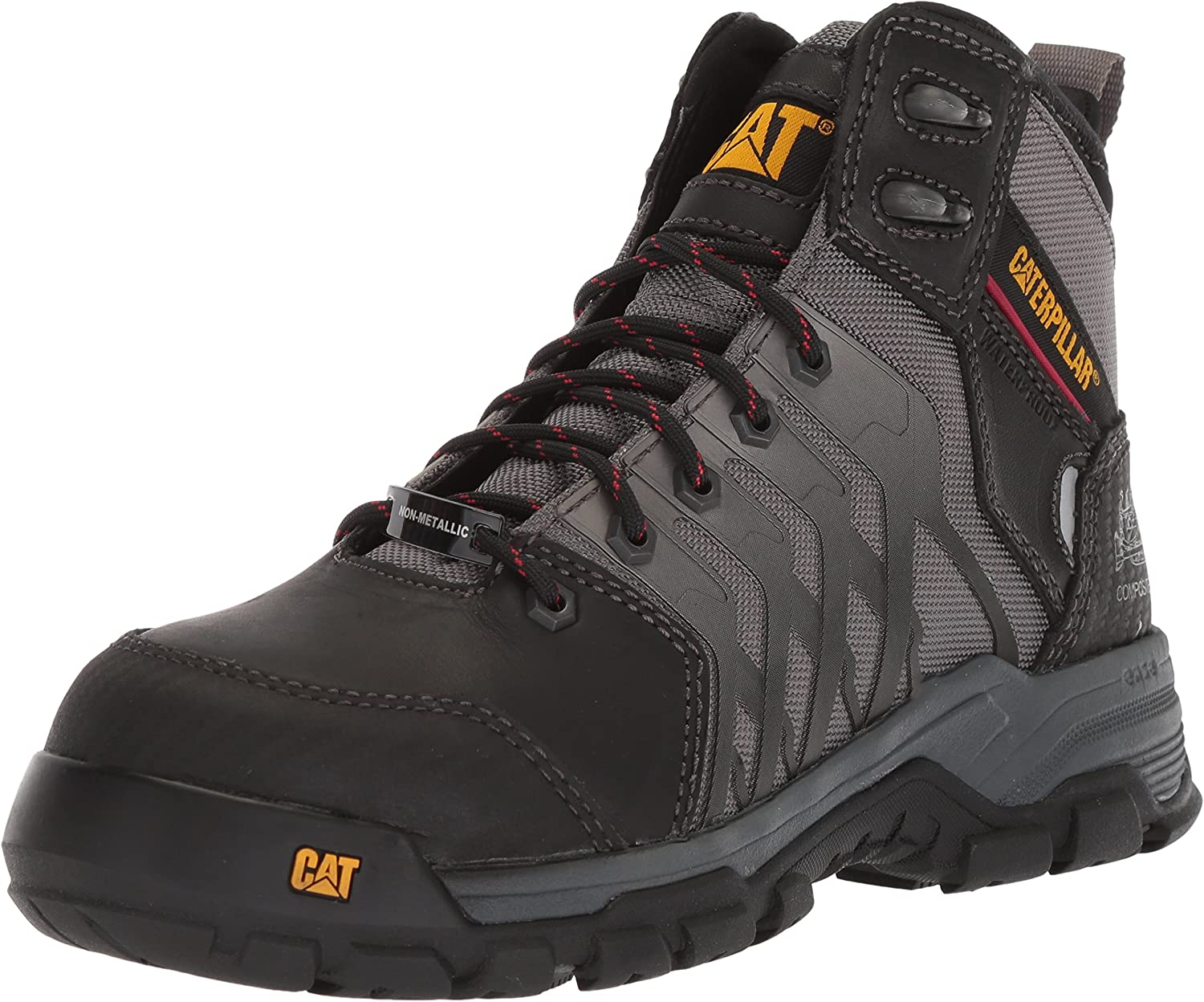 Caterpillar Mens Induction Waterproof Nano Toe Med Charcoal Industrial Boot