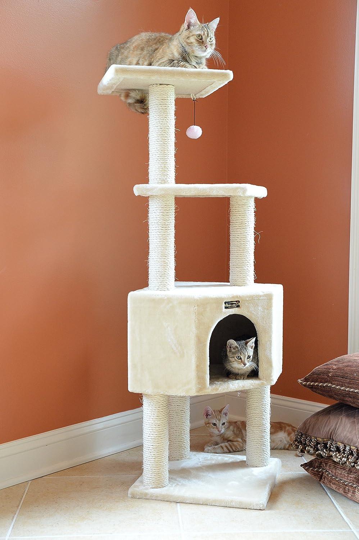 48-Inch Beige Armarkat Classic Cat Tree Model A4801