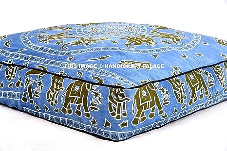 Indio de algodón exterior Protector de elefante Mandala ...