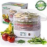 NutriChef Food Dehydrator Machine - Professional Electric Multi-Tier Food Preserver, Meat or Beef Jerky Maker, Fruit & Vegeta