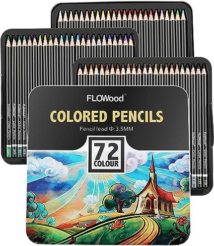 FLOWood Lapices de Colores Profesionales,Estuche de Lapices de Colores,Profesional Lápices de Colores Conjunto para Artistas,Adultos y Niños (caja de 72): Amazon.es: Oficina y papelería