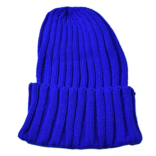 Woogwin Womens Knitted Beanie Cap Winter Warm Hats for Men Solid  Color(1pack Blue) adb7f7a19e6