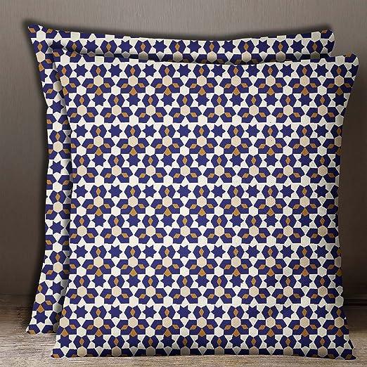 S4Sassy 2 piezas Funda de cojin azul marino Mosaico ...