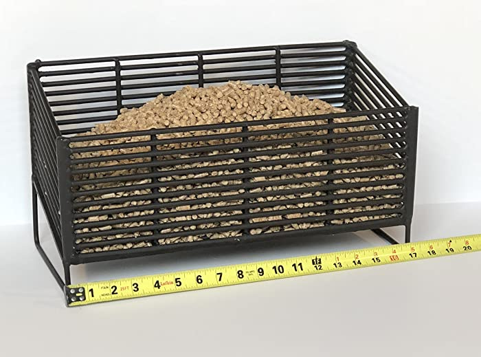 Pellet Basket, Alternative Heating Source Using Wood Pellets in Your Wood Stove or Fireplace