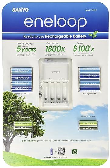 Amazon.com: Sanyo Eneloop Ni-MH - Cargador y 8 pilas ...