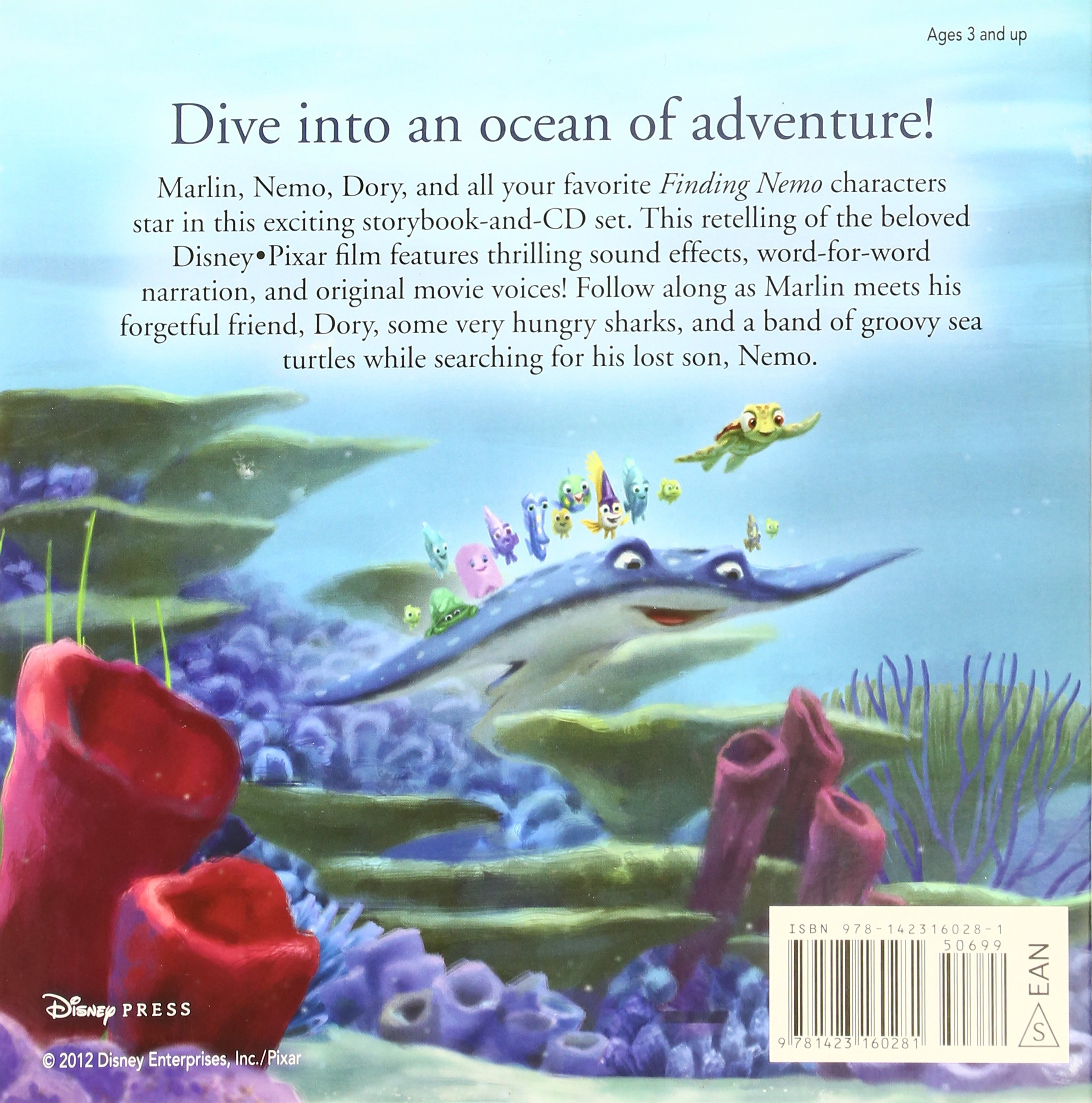 amazon finding nemo read along storybook and cd disney book