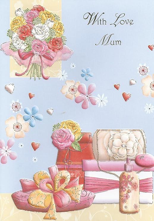 Con amor de madre tarjeta del feliz cumpleaños: Amazon.es: Hogar