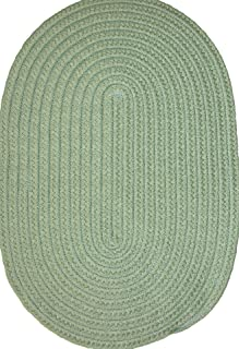 "product image for Veranda 24"" x 36"" Braided Rug in Lime Green"