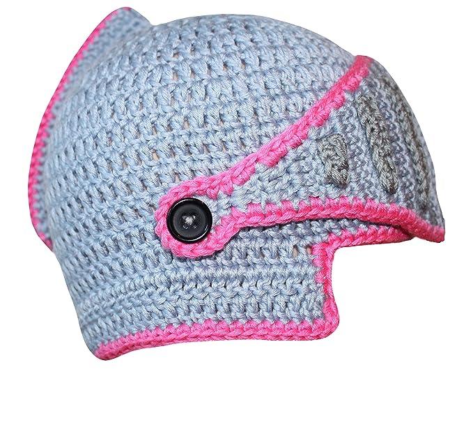 5a6e8f88e v28 Roman Knight Helmet Visor Cosplay Knit Beanie Viking Hat Cap Wind Mask