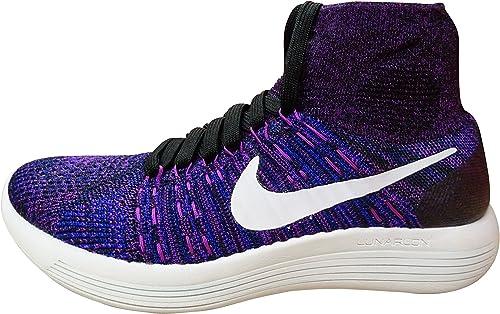 Nike Wmns Lunarepic Flyknit, Zapatillas de Running para Mujer, Negro (Black/White-Vivid Purple-Cncrd), 37 1/2 EU: Amazon.es: Zapatos y complementos