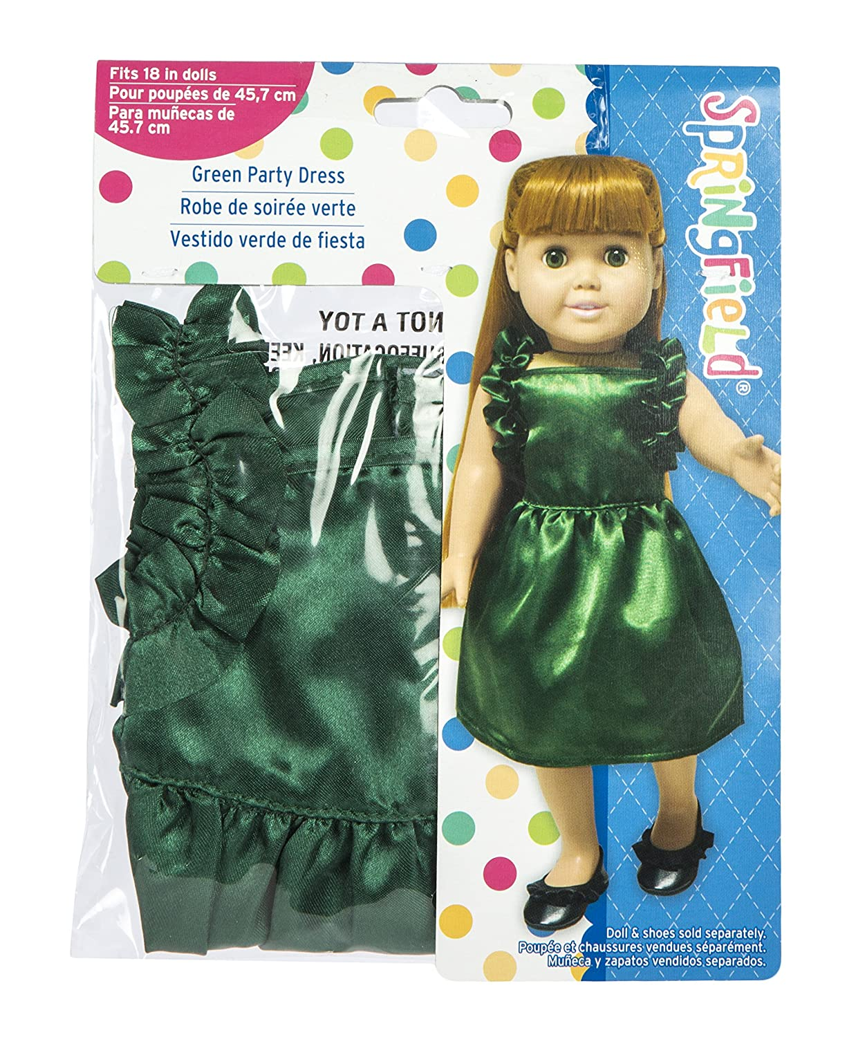 Amazon.com: Springfield Collection by Fibre-Craft – Hunter Green Satin Party Dress – Fits All 18-Inch Dolls – Mix and Match! – For Ages 4 and Up: Arts, ...