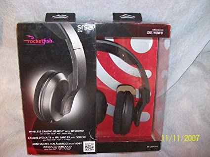 Rocketfish SRS WOW Wireless Gaming Headset with 3d Surround for Xbox 360,ps3 and Pc