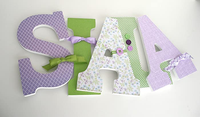 lavender and green custom wood letters purple and sage bedroom decorations for girls baby