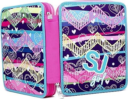 Estuche Maxi Violeta SJ Gang Girl Seven: Amazon.es: Oficina y papelería