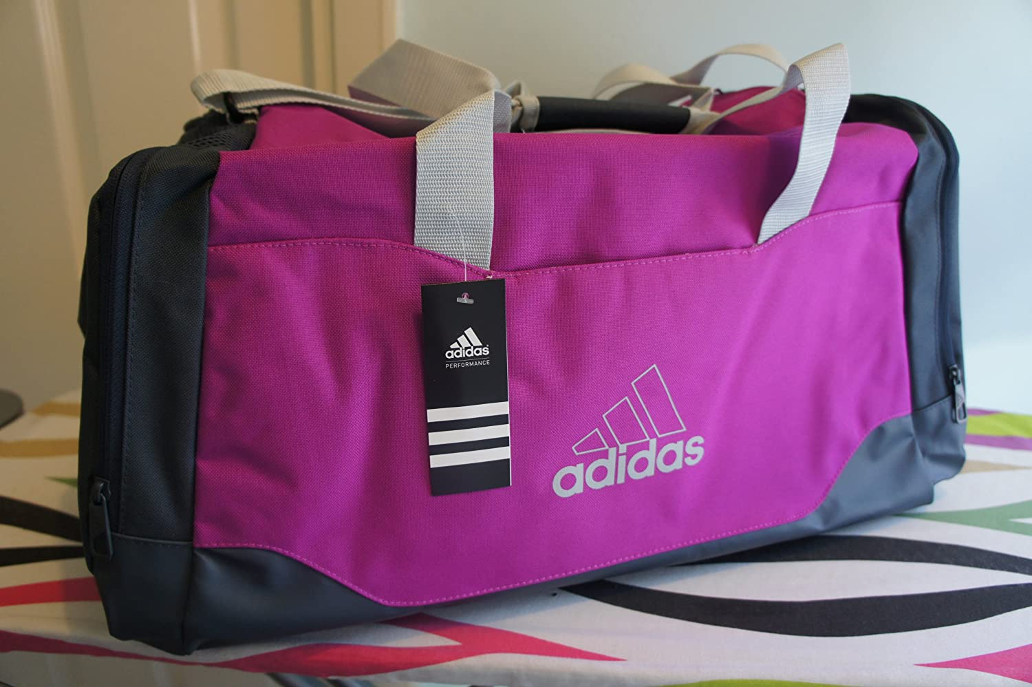 cc5ea81c53d7 adidas Performance Essentials Teambag Z31771 Women s Sports Bag 53 Litre 60  x 29 x 29 cm Vivid Pink Dark Onyx Clear Grey  Amazon.co.uk  Sports    Outdoors