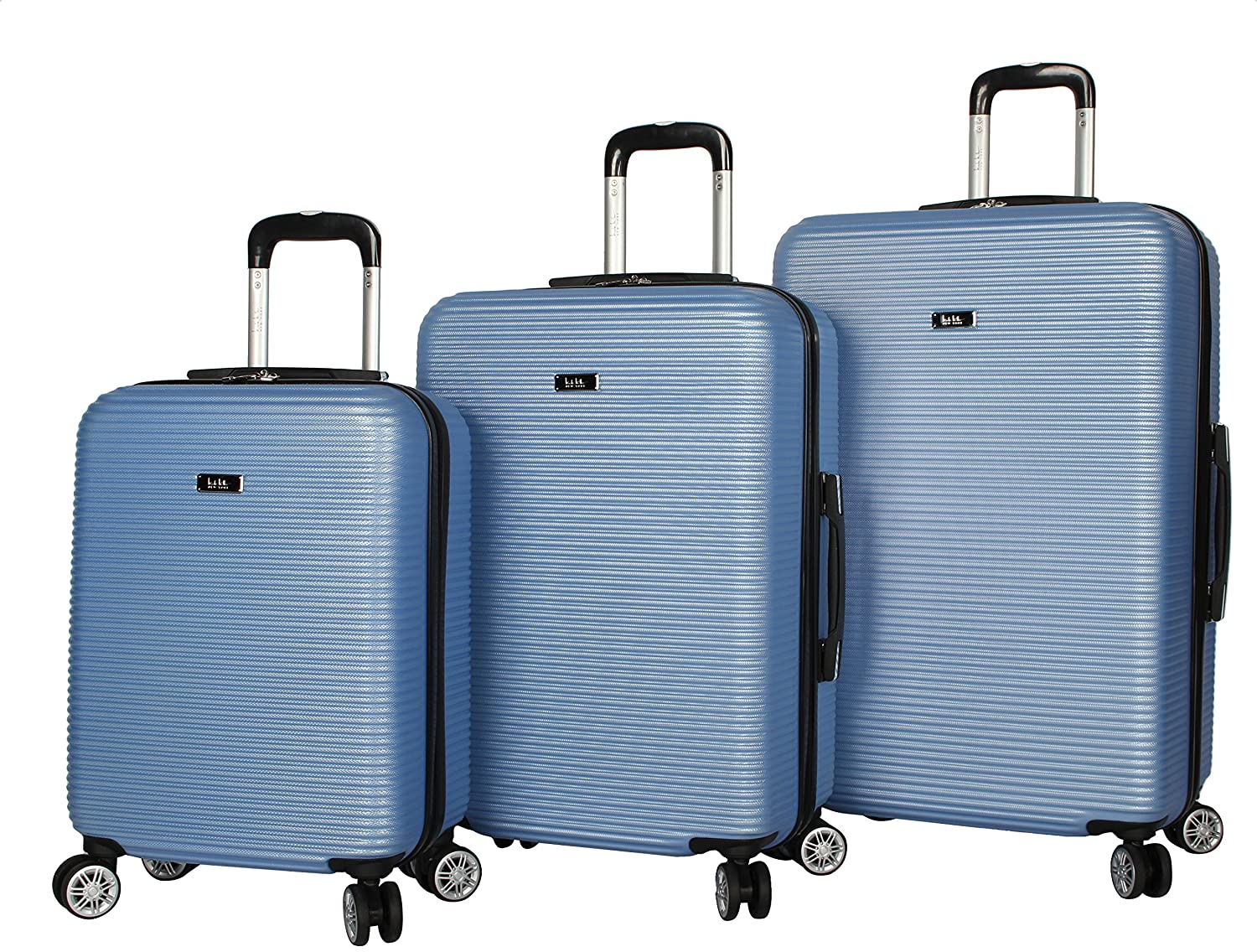 Nicole Miller Bernice 3-Piece Hardside Upright Luggage Spinner Set and 20 28 24