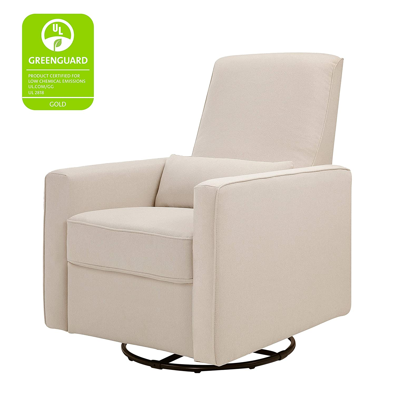 Swell Davinci Piper Upholstered Recliner And Swivel Glider Cream Forskolin Free Trial Chair Design Images Forskolin Free Trialorg