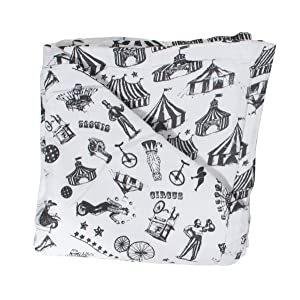 Bebe au Lait Oh So Soft Muslin Snuggle Blanket - Circus and Big Tops