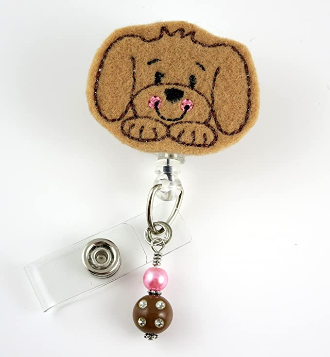 No Dogs on Beach Selfie Retriever Pug Chrome Badge ID Card Holder
