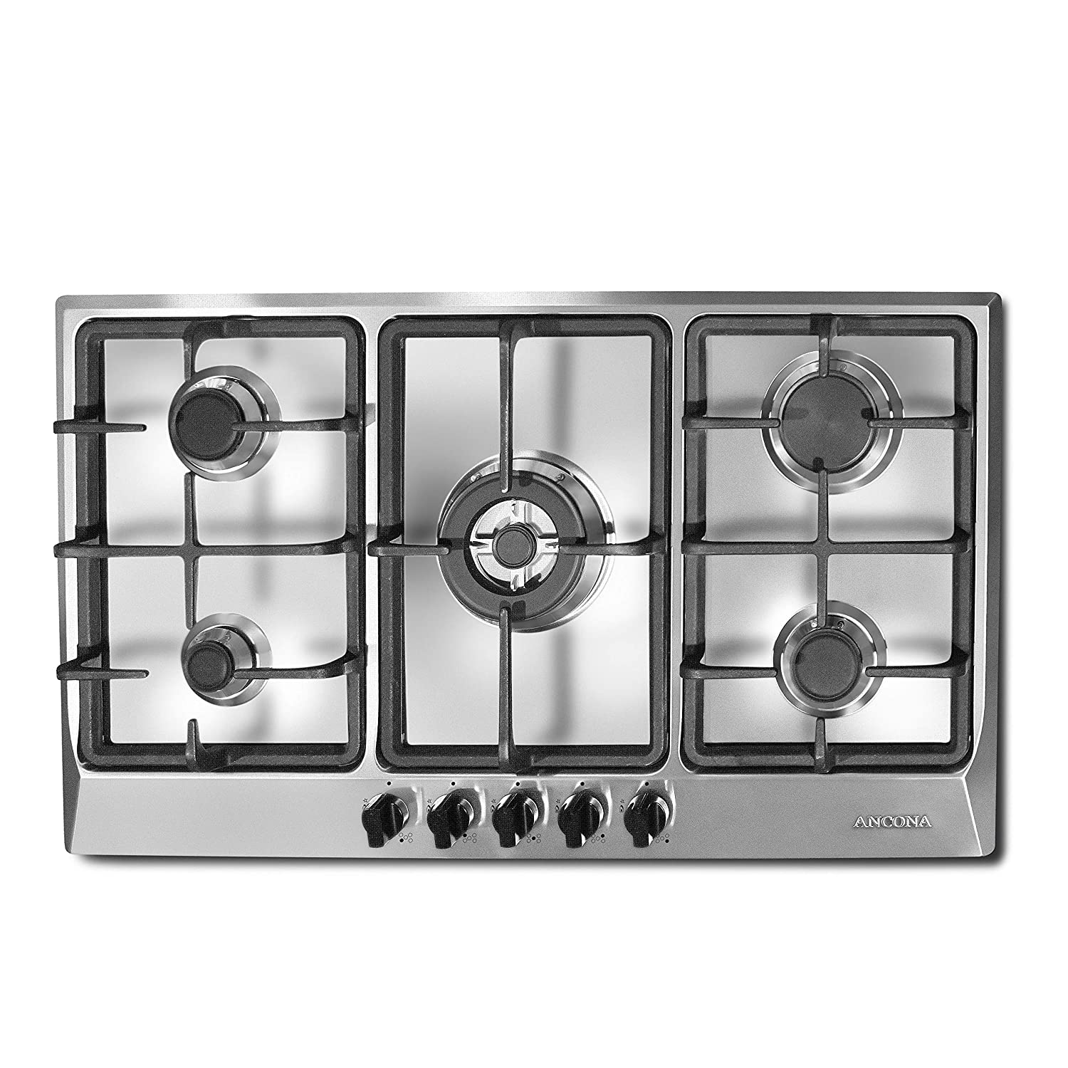 Ancona AN-21449 34' Gas Cooktop, Stainless Steel