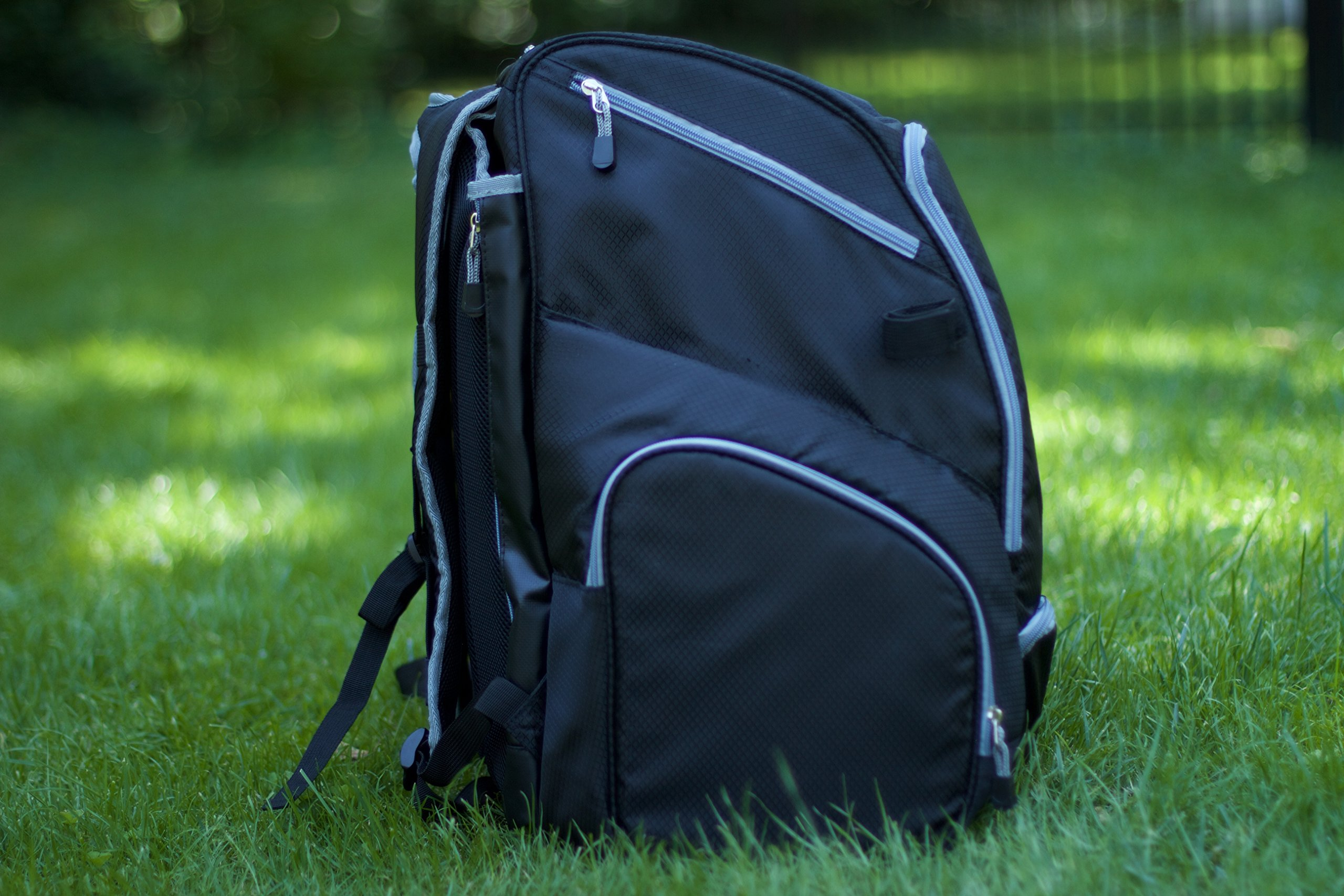 Throwback Gametime Pack XL - Large Lacrosse Backpack & Field Hockey Bag With Cooler - Perfect For Multi-Sport Athletes - Includes Racquet Holder For Tennis, Racquetball + Separate Shoe Compartment by Throwback Sports (Image #8)