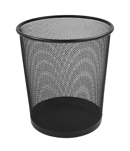 Osco WB27.5-BLK - Papelera de malla metálica, color negro: Amazon ...
