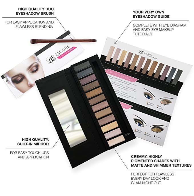 Lagure Eyeshadow Palette 12 Colour Professional Eye Palette