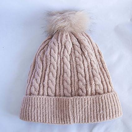 Gorro de lana rosa con forro interior de peluche y pompón. Envío GRATIS 72h: Amazon.es: Belleza
